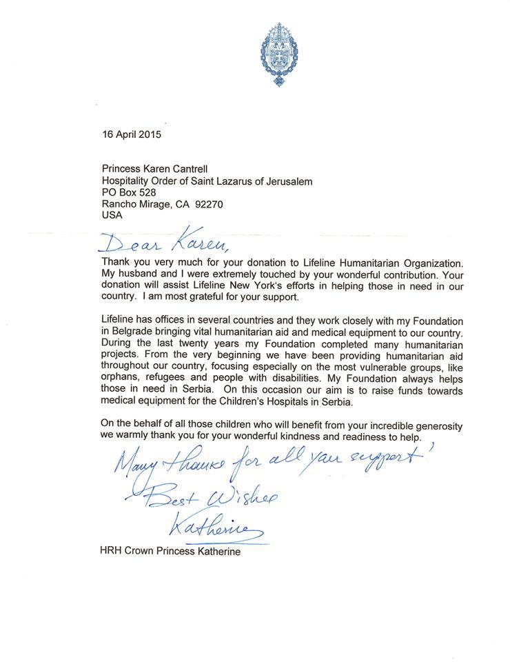 HRH Crown Princess Katherine's Lifeline NY Foundation